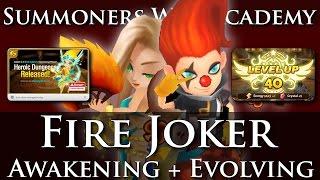 Fire Joker Awakening → Jojo! + Reaching Lvl. 40 Cap + Wind Sylphid Grinding (Summoners War Academy)