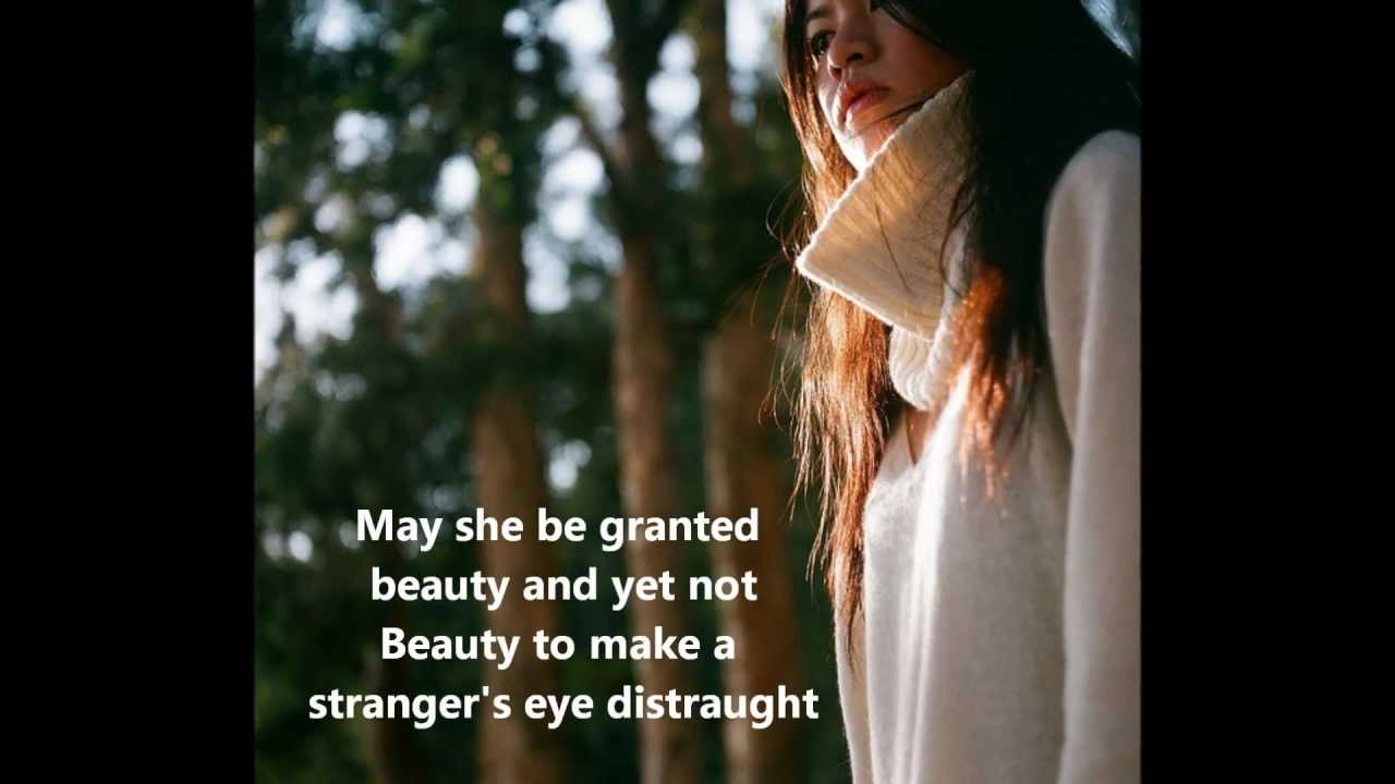 A Prayer for my Daughter by W. B. Yeats – Analysis