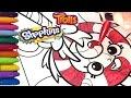 Glitter Coloring TROLLS and SHOPKINS Lollipop!