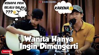 Ada Band - Karena Wanita Ingin Dimengerti ( Cover by Alfhin ft. Chio ) Lyrik #coverlagu