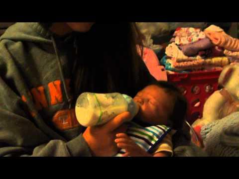 bedtime feeding for baby Declan!!!