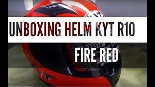 UNBOXING HELM KYT R10 FIRE RED