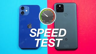 iPhone 12 vs Pixel 5 - Speed Test - WHAT? 😱