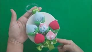 Porta Pano de Prato com Flores – Botão Feita com Fuxicos