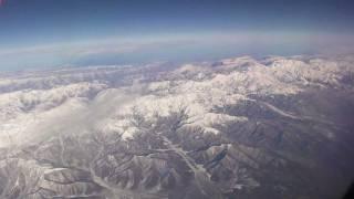 コーカサス山脈の空撮