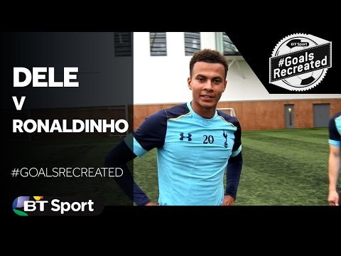 Dele Alli tries to recreate Ronaldinho's infamous UEFA Champ