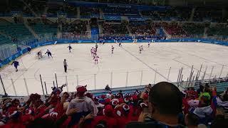 Россия Словения. Олимпиада 2018.Пхёнчан.(начало)