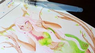 Elemental Ladies Series: Earth (#3) - Watercolor Speedpaint ♡ iiKiui