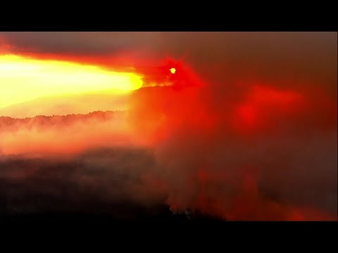 New wildfires breakout in California (footage)