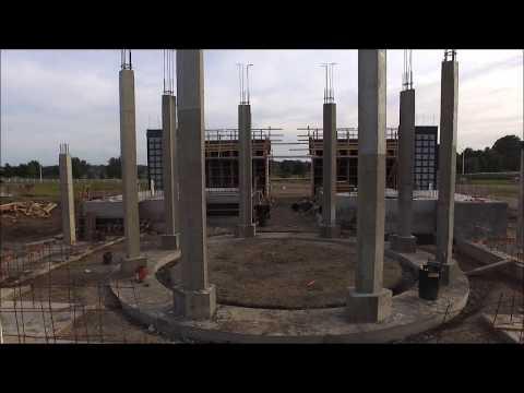 Holy Trinity Mausoleum Construction Progress 10/1/17 - Mt. Calvary Catholic Cemetery Topeka, KS