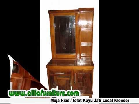 Meja Rias Tolet Kayu Jati Klender Youtube