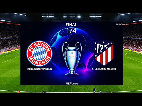 Pes 2020 Bayern Munich Vs Atletico Madrid 1 4 Final Uefa Champions League Gameplay Pc Youtube
