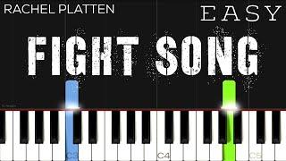 Rachel Platten - Fight Song   EASY Piano Tutorial