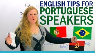 My English tips for Portuguese speakers