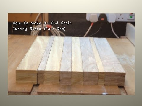 how to make an end grain cutting board,