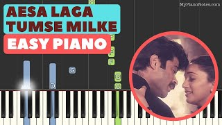 Tumse Milke Aisa Laga - Piano Tutorial with Chords, Letter Notes