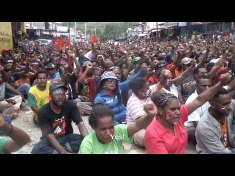 The National Committee of West Papua (KNPB) rally on May 31, 2016