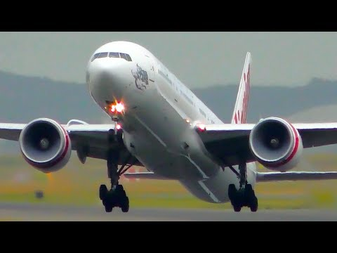 POWERFUL Boeing 777 Takeoffs From CLOSE UP | Sydney Airport Plane Spotting