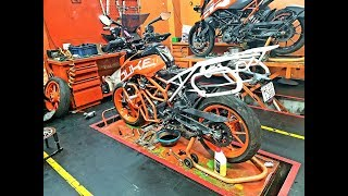 KTM Duke 390 2017 Ownership Review   12000 kms   First paid service   problem   insurance claim