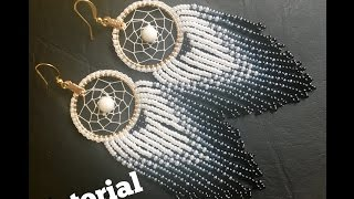 How to make Dream Catcher Earrings (part 1)DIY