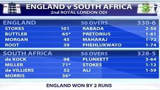 2017 odi south africa vs england 2nd odi full highlights and story.Eng vs RSA match 3 match series