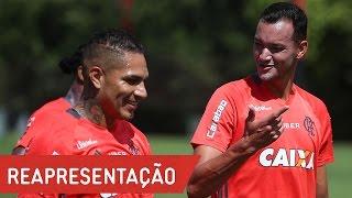 Bola na rede na reapresentação do Flamengo (30/01)
