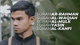 Download lagu Surah AR-RAHMAN Surah AL-WAQIAH Surah AL-MULK Surah YASIN Surah AL-KAHFI