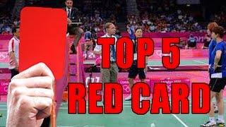 TOP 5 BADMINTON RED CARD! thumbnail