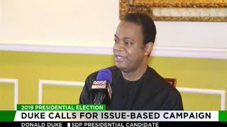 Donald Duke calls for issue-based campaign