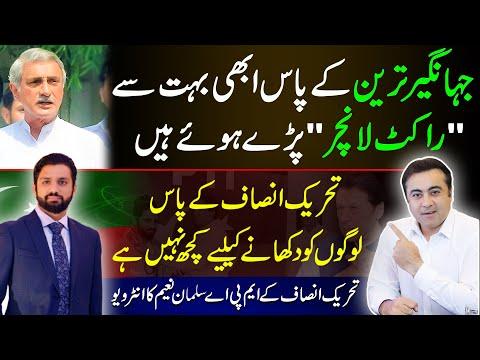"""Jahangir Tareen has many ""Rocket Launchers"" PTI MPA Salman Naeem's interview with Mansoor Ali Khan"