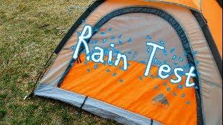Rain test of an improved Walmart Tent
