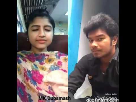 Thodari Dhanush and Keerthi Suresh Comedy Scene Dubsmash by MK and cute Sindhu Dubsmash
