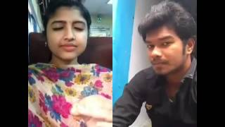 Thodari Dhanush and Keerthi Suresh Comedy Scene Dubsmash by MK and cute Sindhu Dubsmash