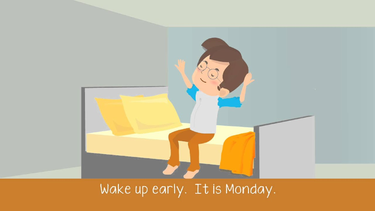 Daily Activities Present Tense ESL