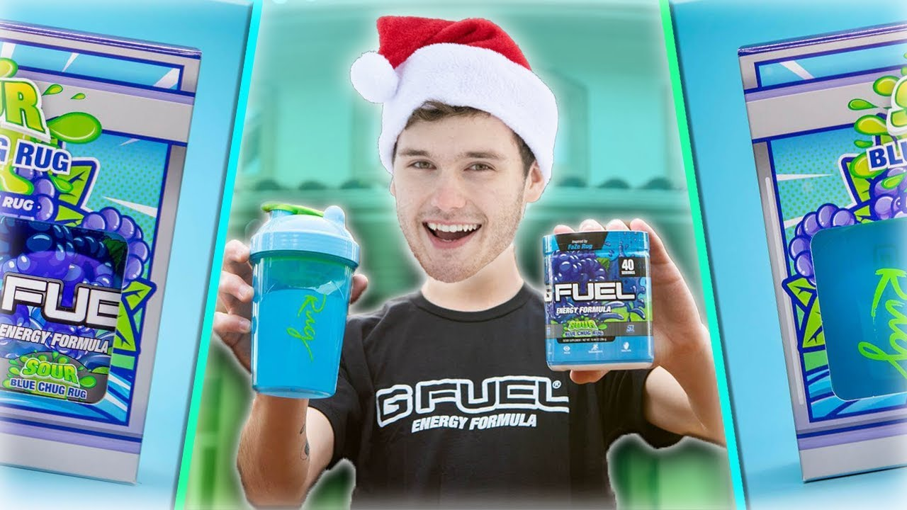 New Gfuel Flavor Review Sour Blue Chug Rug Unboxing Youtube