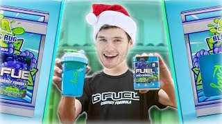 NEW GFUEL FLAVOR REVIEW!! | Sour Blue Chug Rug UNBOXING!!