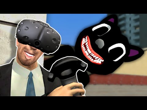 Running From Monsters In Gmod VR! - Garry's Mod Multiplayer Gameplay