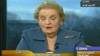 9/11 Dude questions Madeleine Albright