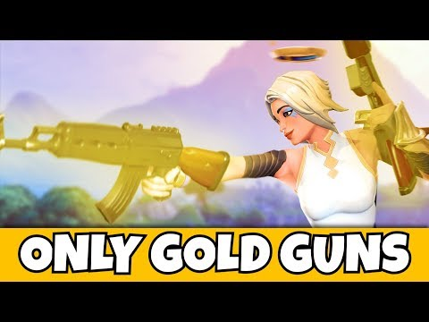 i can ONLY use gold WEAPONS in fortnite... (very hard)