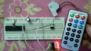 Remote Controller Unipolar Stepper Motor Using PIC18F4550 microcontroller