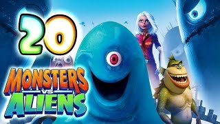 Monsters VS Aliens Walkthrough Part 20 (PS3, X360, Wii, PS2) ~ Ginormica Level 20
