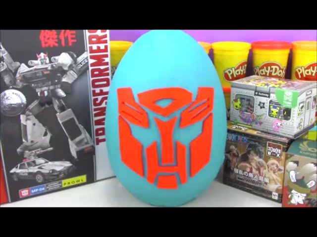 Giant Transformers Play Doh Surprise Egg With Cool Toys From