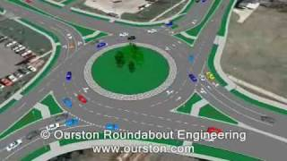 VISSIM Simulation for Lincoln, NE Roundabout