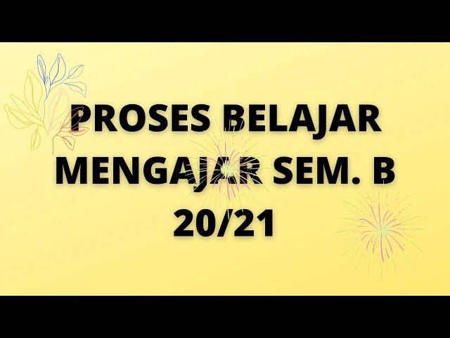 SURAT EDARAN PBM SEM B 2020 / 2021
