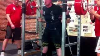 Reverse band squat - Knæbind - 280kg (120kg tension band)