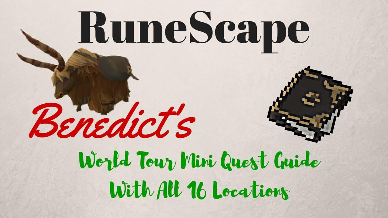 Benedict's World Tour Scrapbook All 16 locations, runescape