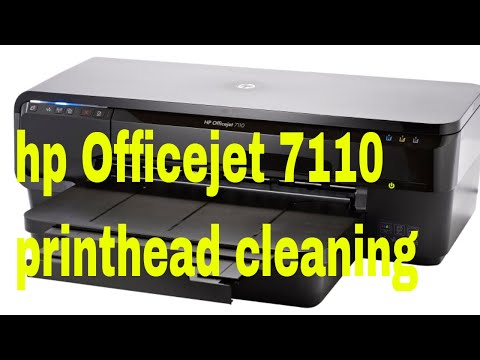 hp Officejet 7110 printhead cleaning