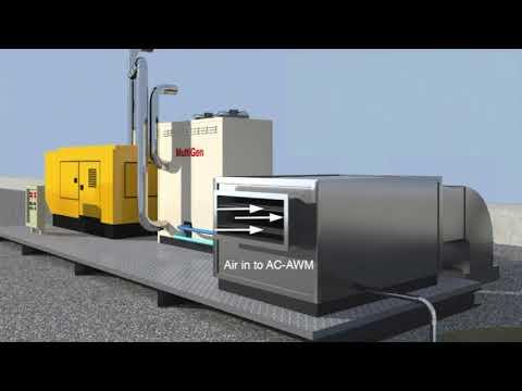 Water from air Air-Watermaker using Diesel generator exhaust