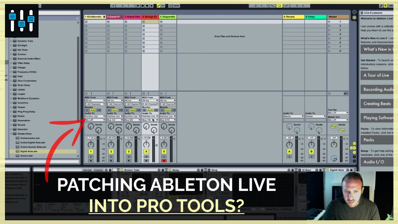 how to use ableton live as a virtual instrument in pro tools youtube. Black Bedroom Furniture Sets. Home Design Ideas