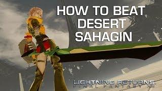 Lightning Returns: Final Fantasy 13 - Desert Sahagin Gameplay